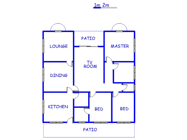 Floor plan of the property in Barberton