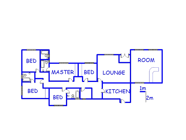 Floor plan of the property in Standerton