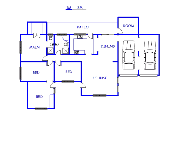 Floor plan of the property in Verulam