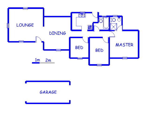 Floor plan of the property in Crystal Park