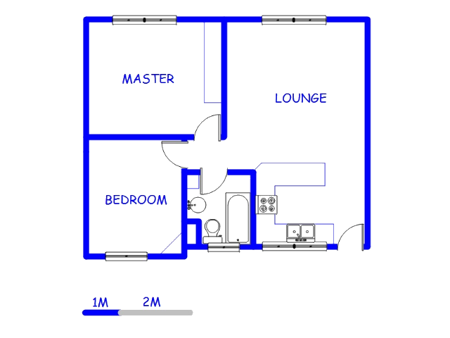 Floor plan of the property in Helderkruin