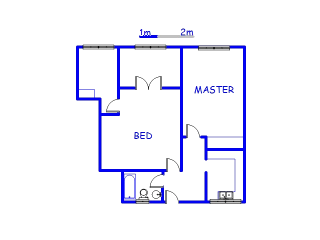Floor plan of the property in Scottsville PMB