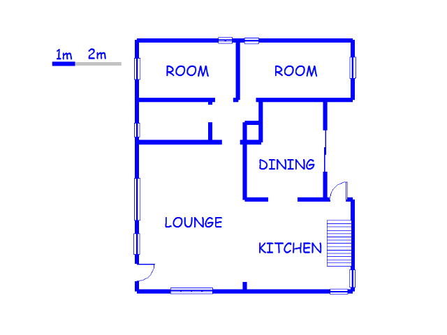 Floor plan of the property in Hillary