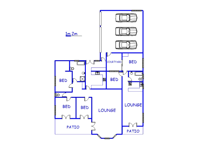 Floor plan of the property in Franschhoek