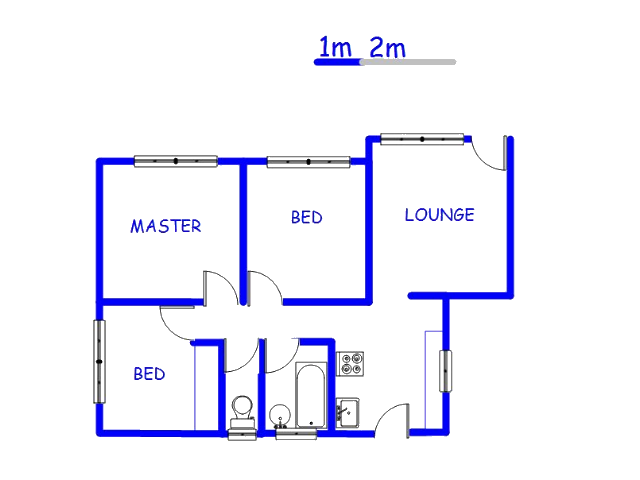 Floor plan of the property in Tlhabane West