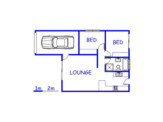 Floor plan of the property in Velddrift