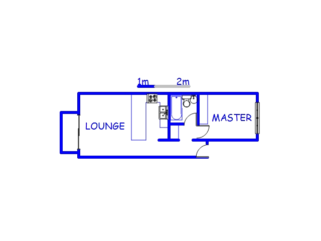 Floor plan of the property in Berea - DBN