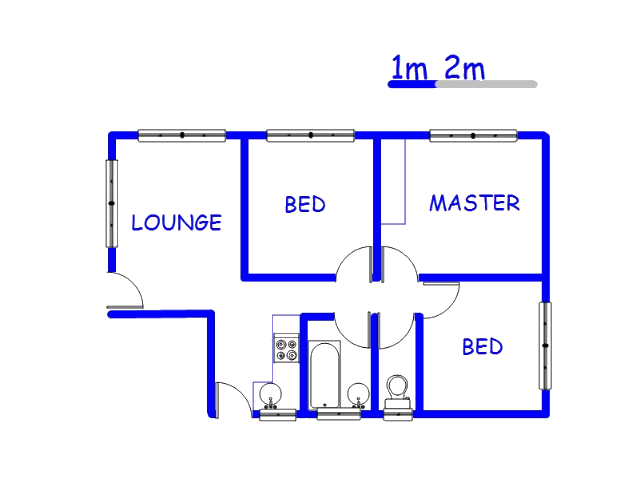 Floor plan of the property in Ebony Park