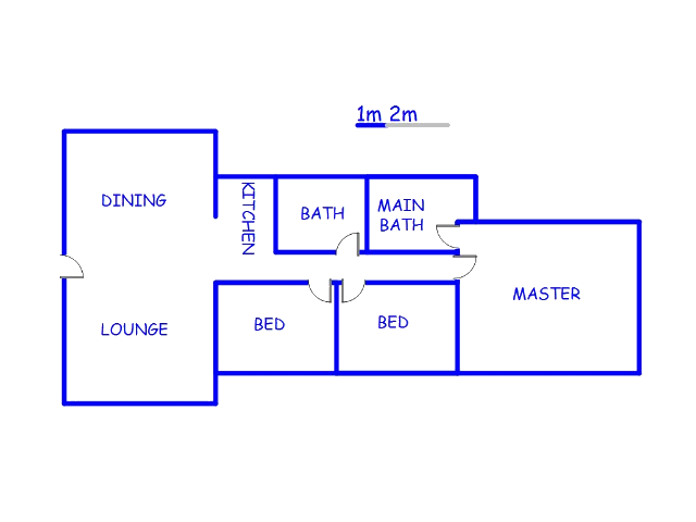 Floor plan of the property in Ravensklip