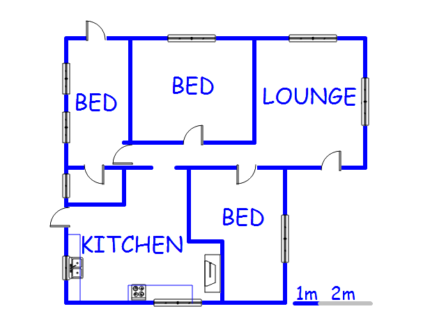 Floor plan of the property in Darling