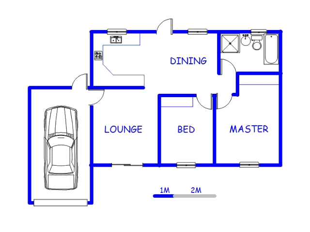 Floor plan of the property in The Reeds