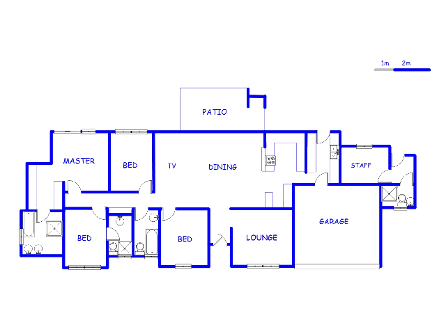 Floor plan of the property in Newmark Estate