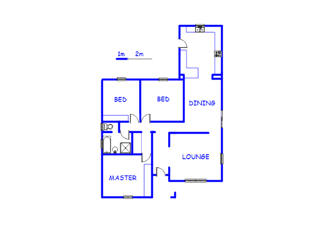 Floor plan of the property in Manufacta