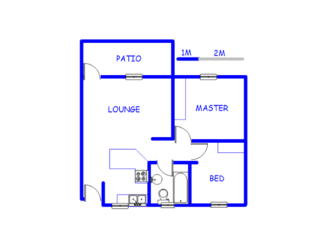 Floor plan of the property in Horison View
