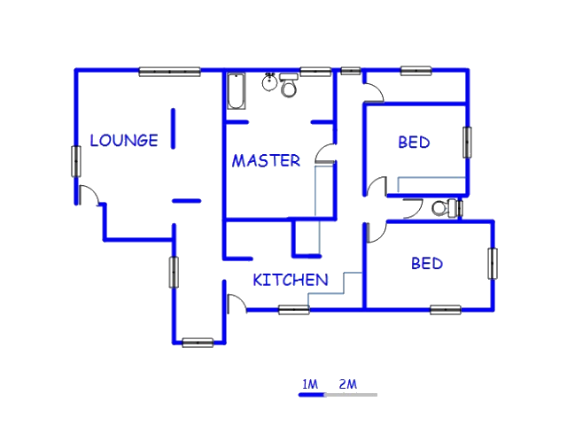 Floor plan of the property in Pretoria Rural