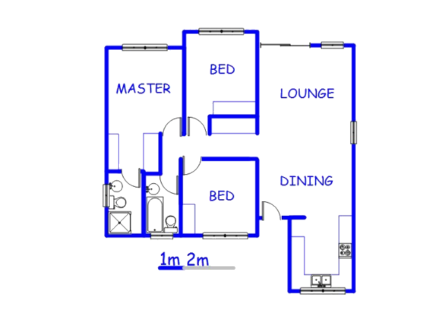 Floor plan of the property in Wierda Glen