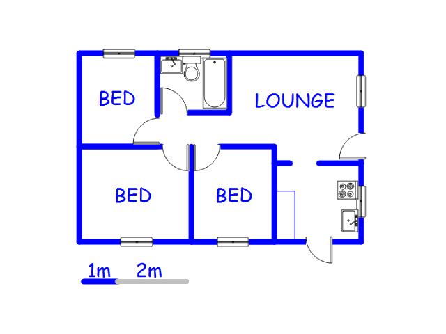 Floor plan of the property in Atlantis