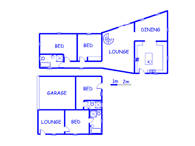 Floor plan of the property in Balfour