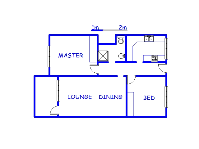 Floor plan of the property in Port Shepstone