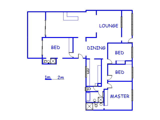 Floor plan of the property in Athlone Park