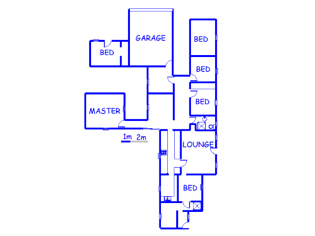 Floor plan of the property in Isandovale