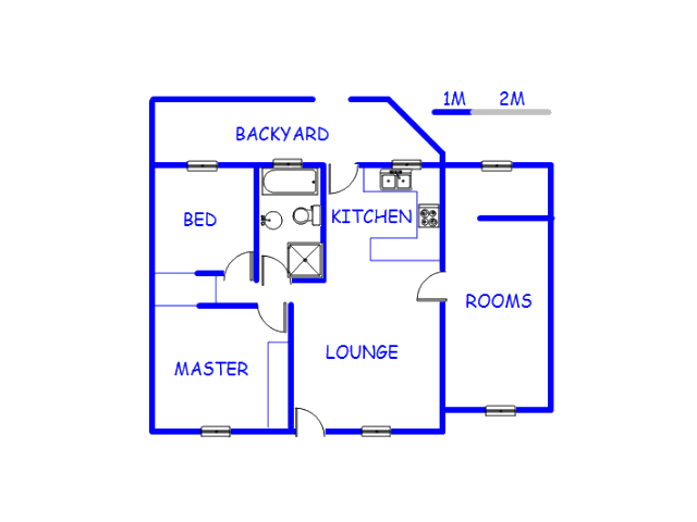 Floor plan of the property in Rangeview