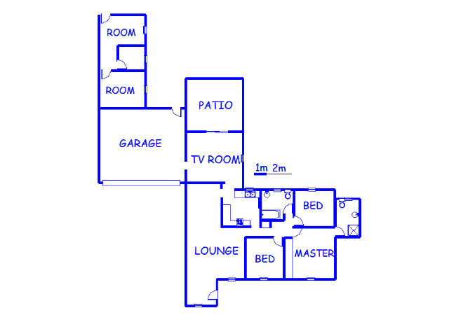 Floor plan of the property in Hurlyvale
