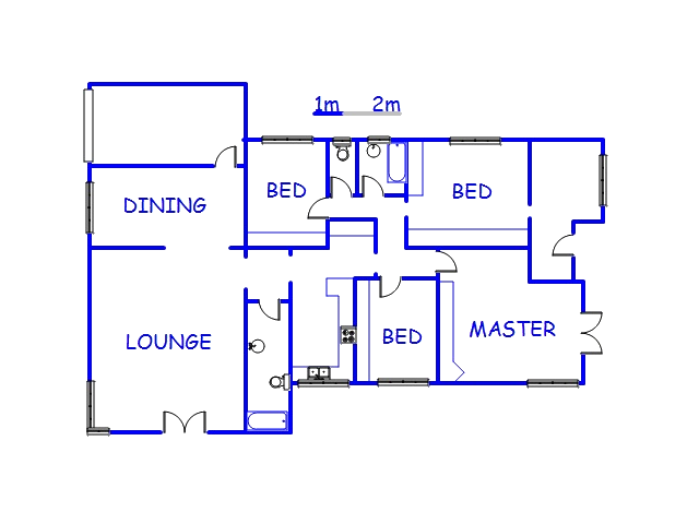 Floor plan of the property in Park Rynie