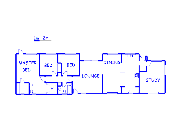 Floor plan of the property in Ashburton