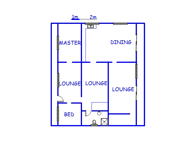 Floor plan of the property in Vosburg