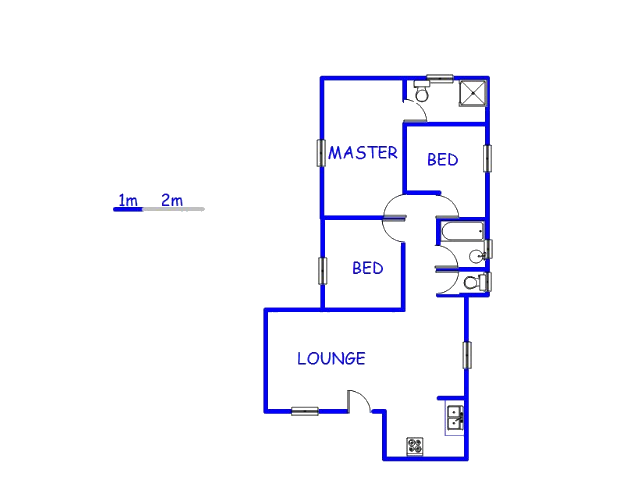 Floor plan of the property in Zakariyya Park