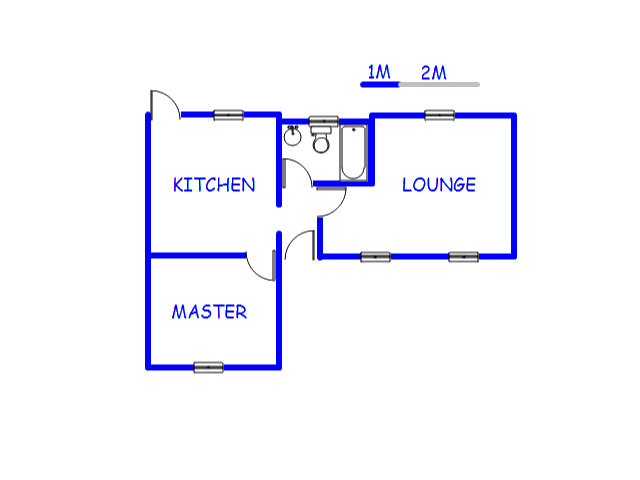 Floor plan of the property in Crown Gardens