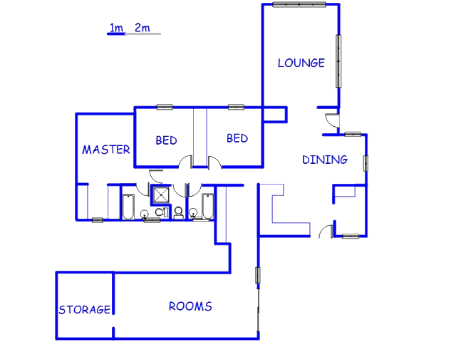 Floor plan of the property in Constantia Kloof