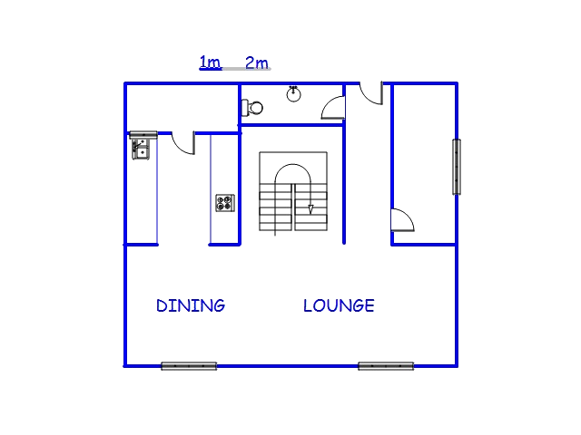 Floor plan of the property in Hilton