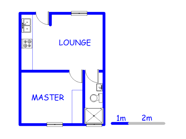 Floor plan of the property in Malmesbury