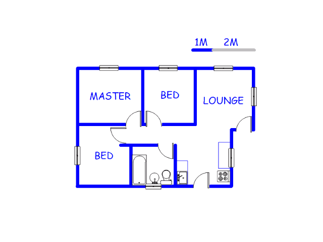 Floor plan of the property in Stretford