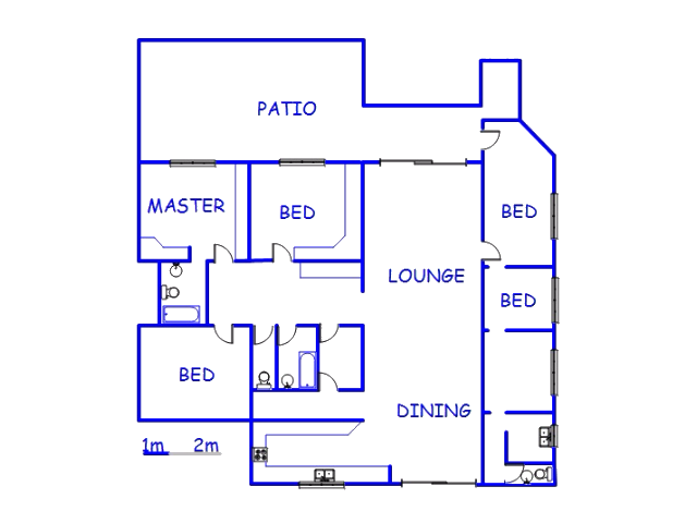 Floor plan of the property in Kharwastan