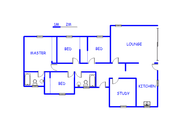 Floor plan of the property in Klippoortje North