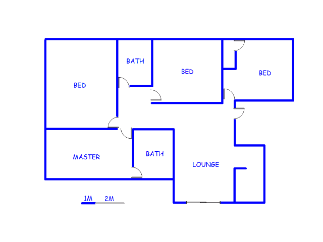 Floor plan of the property in Waterval East