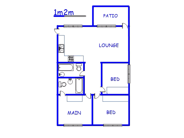 Floor plan of the property in Glenmore (KZN)