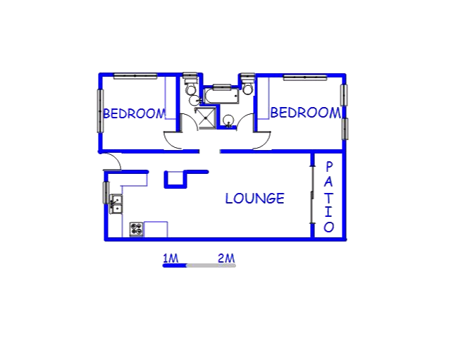 Floor plan of the property in St Micheals on Sea