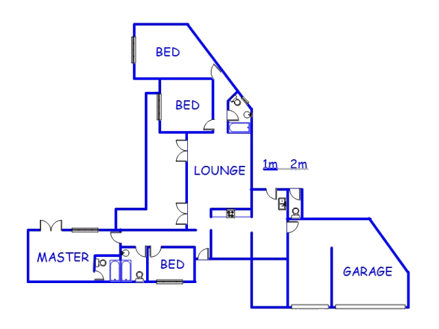 Floor plan of the property in Capri