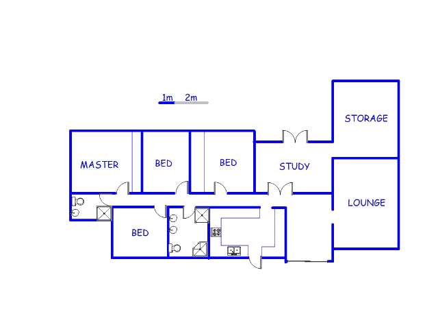 Floor plan of the property in Moret