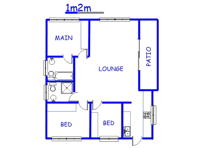 Floor plan of the property in Cullinan