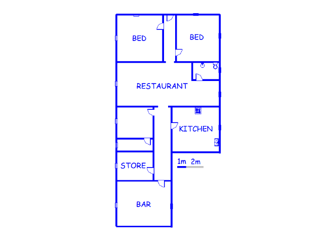 Floor plan of the property in Hanover