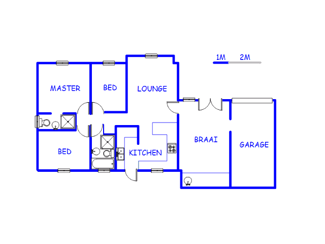 Floor plan of the property in Klapmuts