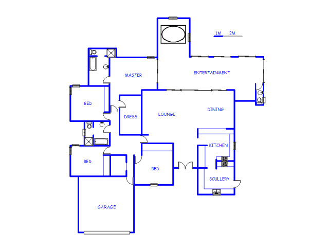 Floor plan of the property in Vanderbijlpark