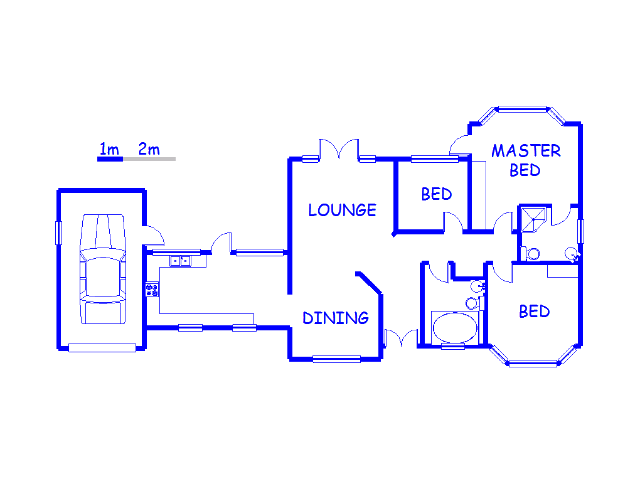 Floor plan of the property in Forest Hill