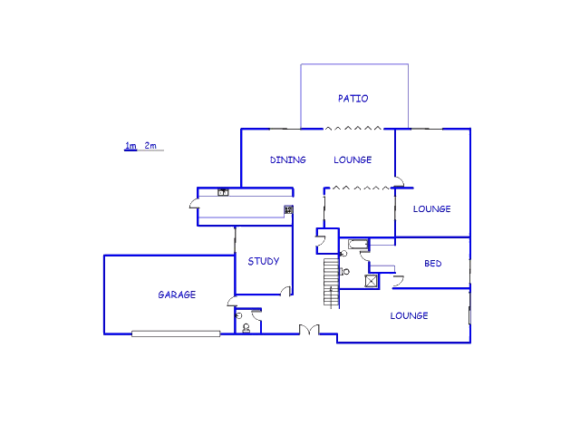Floor plan of the property in Craighall
