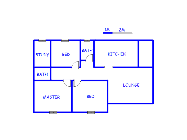 Floor plan of the property in Kei Road